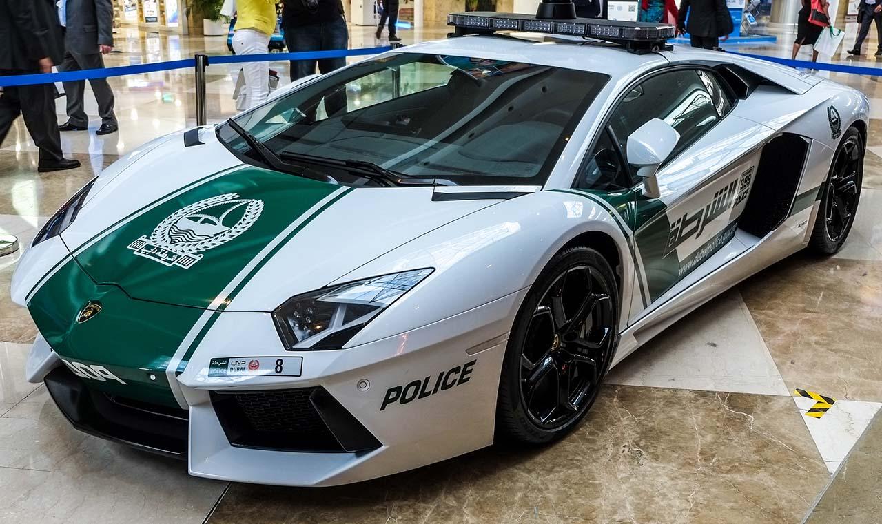 Cop cars in Dubai