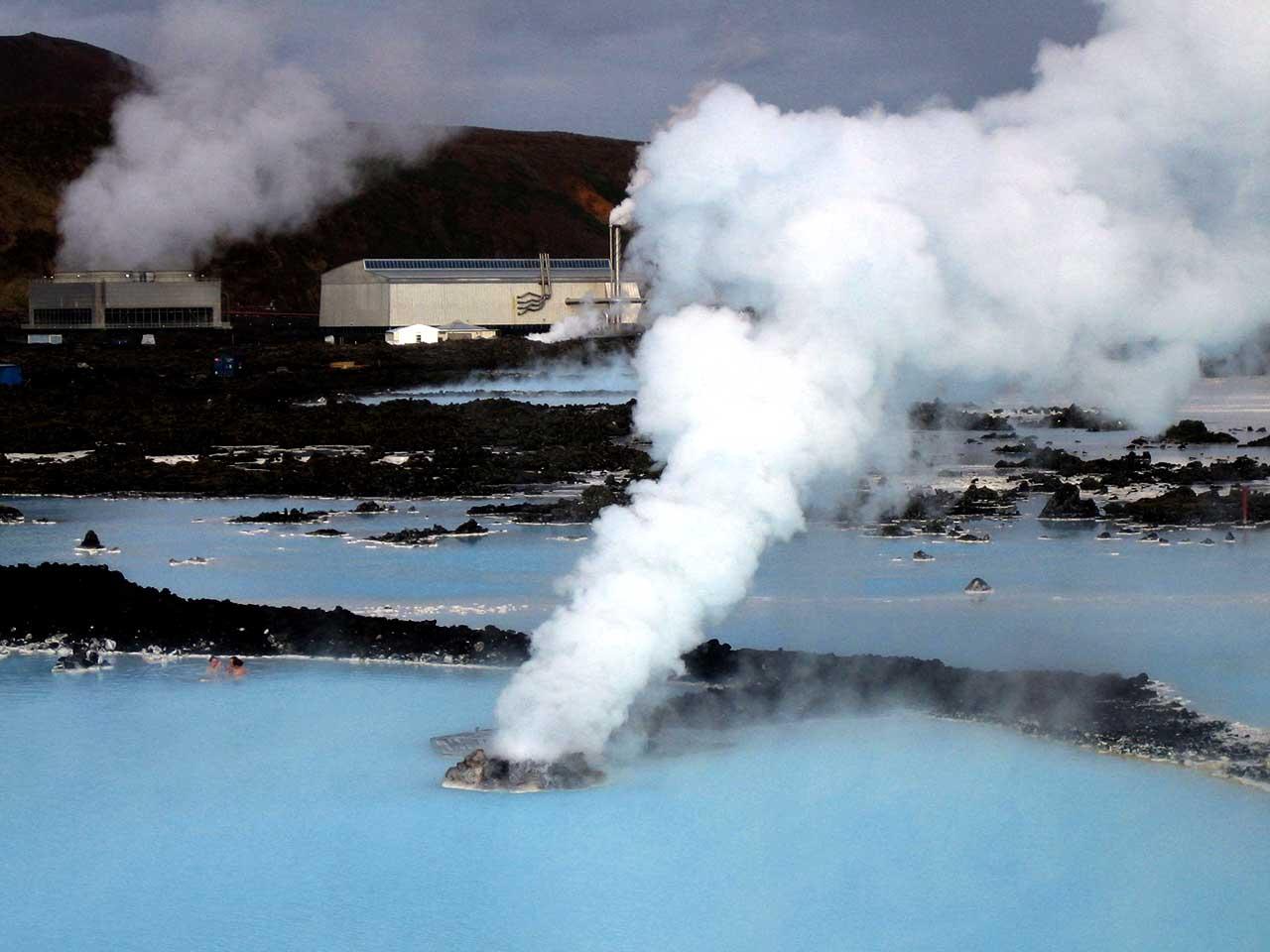 Iceland uses geo-thermal energy