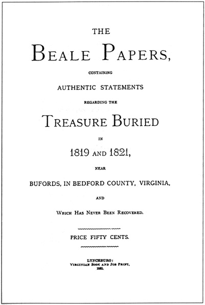 The Beale Papers that hides the treasure