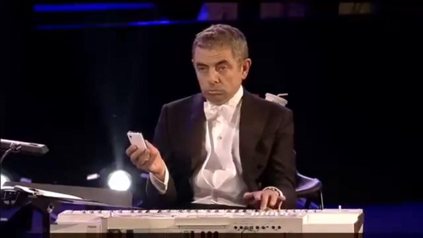 Mr. Bean performing at the London Olympics 2012