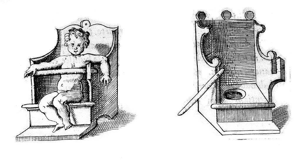 Children's lavatory seat during the 16th century.