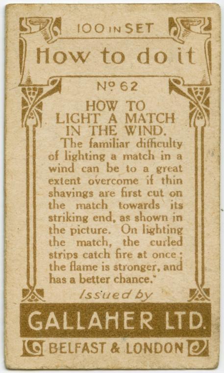 Lighting a matchstick