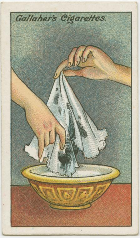 How to take ink stains out a handkerchief.