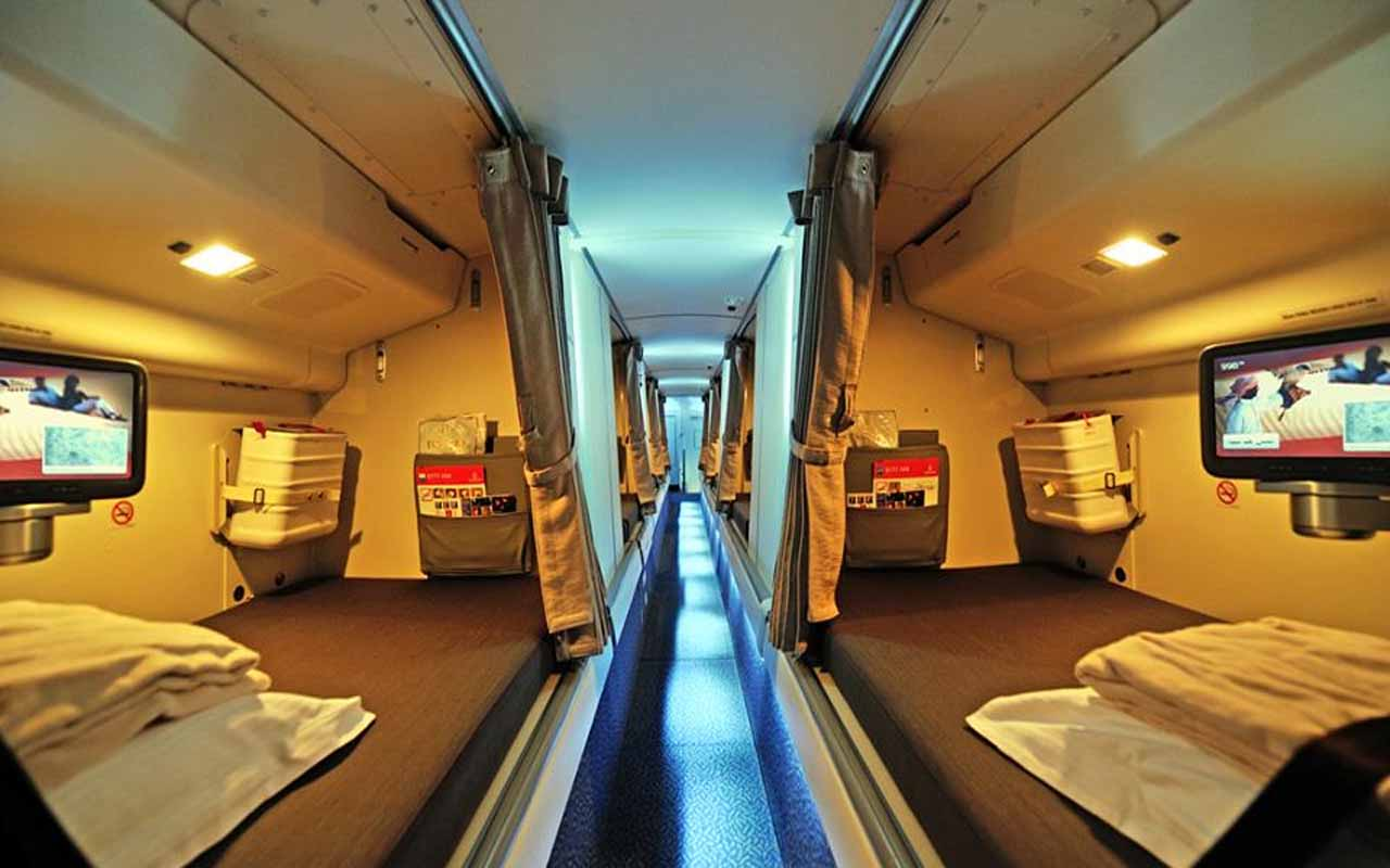 Airplane crew cabin