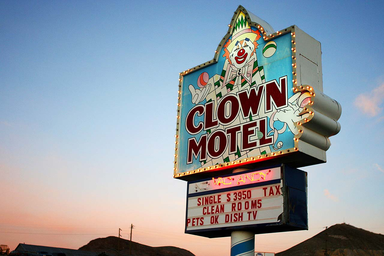 The Clown Motel, Nevada, United States, Clowns, Creepy