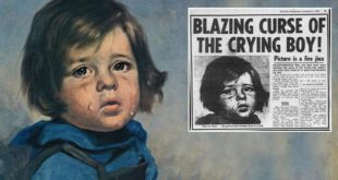 The blazing crying boy, painting, curse, objects