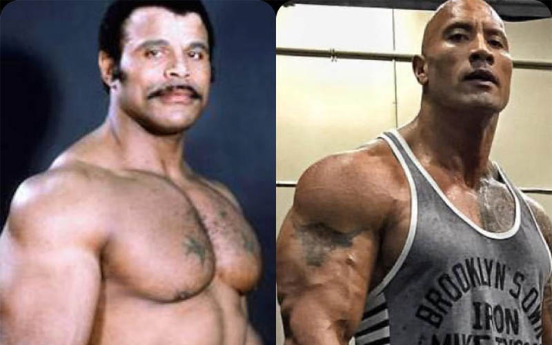 The Rock and his father