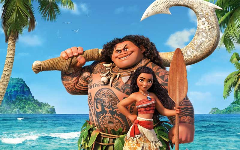Maui, Moana, The Rock