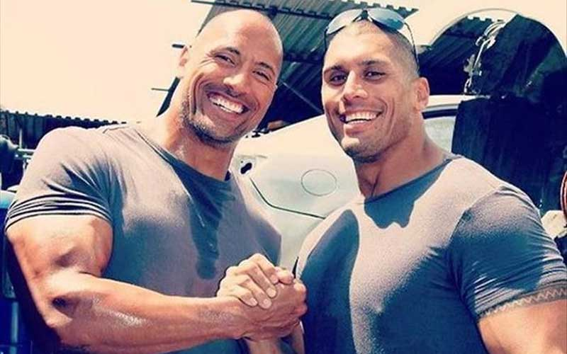 The Rock with his cousin