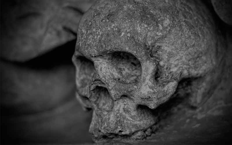 A nun's skull