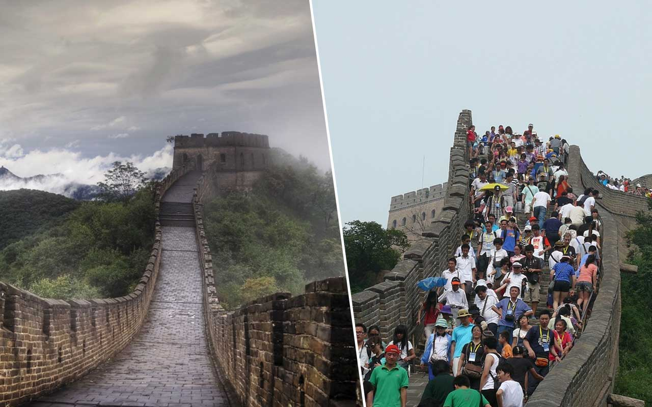 The Great Wall of China, travel, tourists, tourism