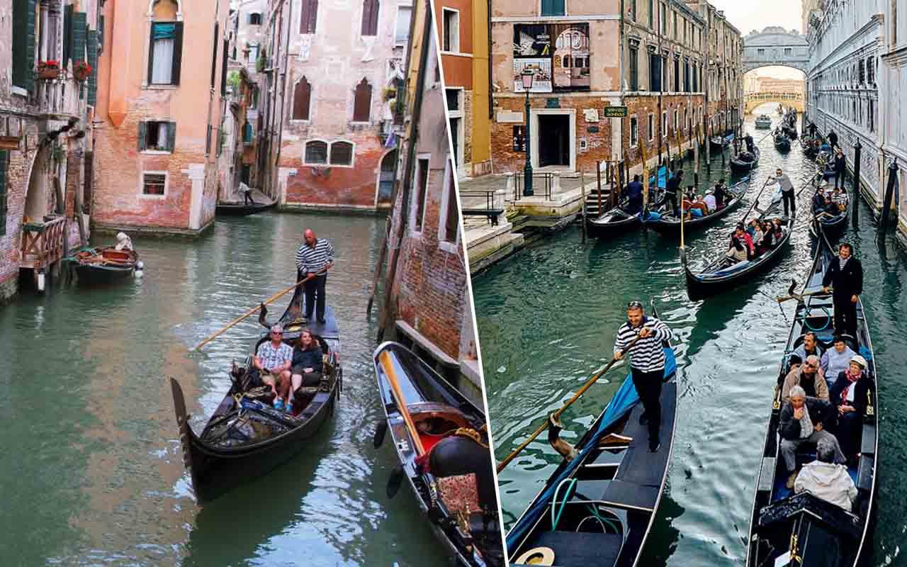 Gondola, Venice, Italy, Love, Couple