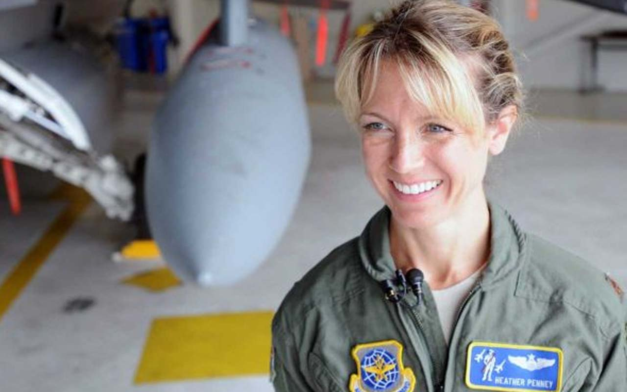 Maj. Heather Penney, F-16 fighter pilot jet