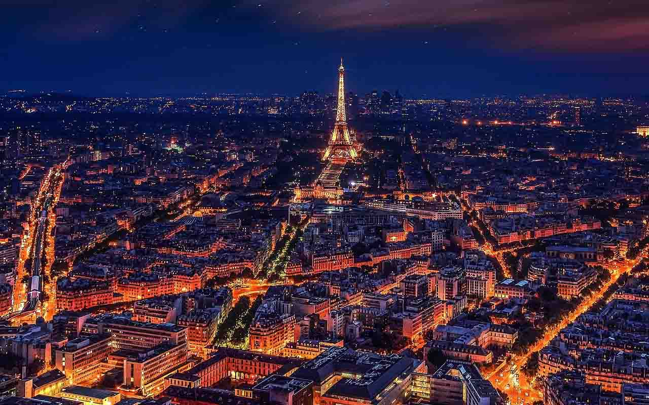 Eiffel Tower, Paris, France, Love, Romance, City, Lights, Night, Sky