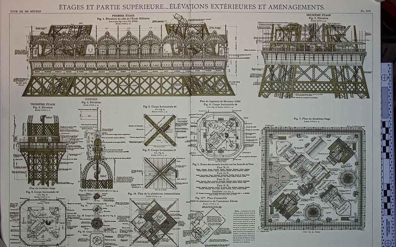 Gustave's Eiffel Tower Plan
