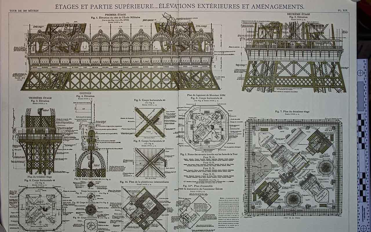 Gustave's Eiffel Tower Plan