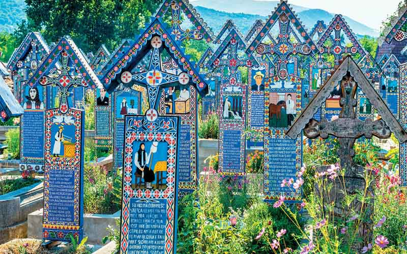 Merry Cemetery (Sapanta, Romania), cemetery, cemeteries, graveyard