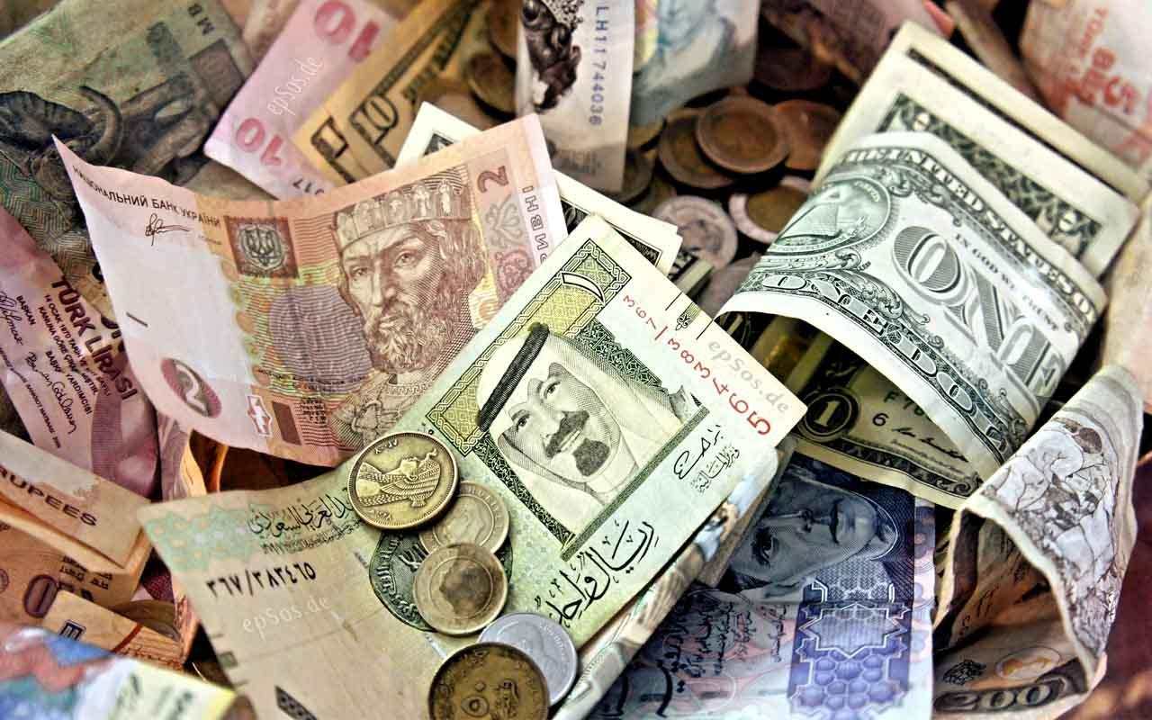 Money, currency, change, dollar, yen, dinar,scam