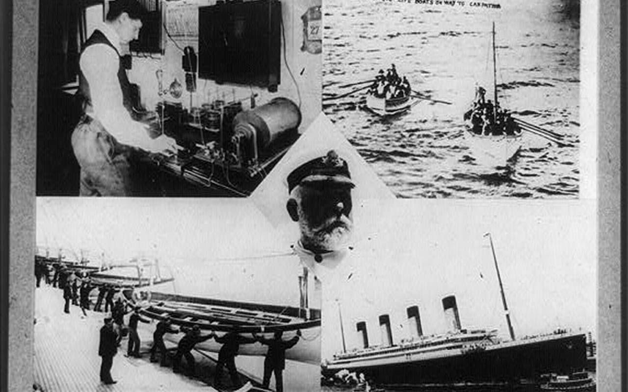 Titanic, sinking, distress call