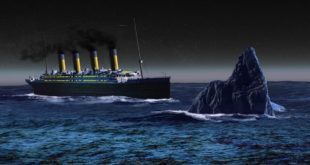 Titanic, sinking, iceberg