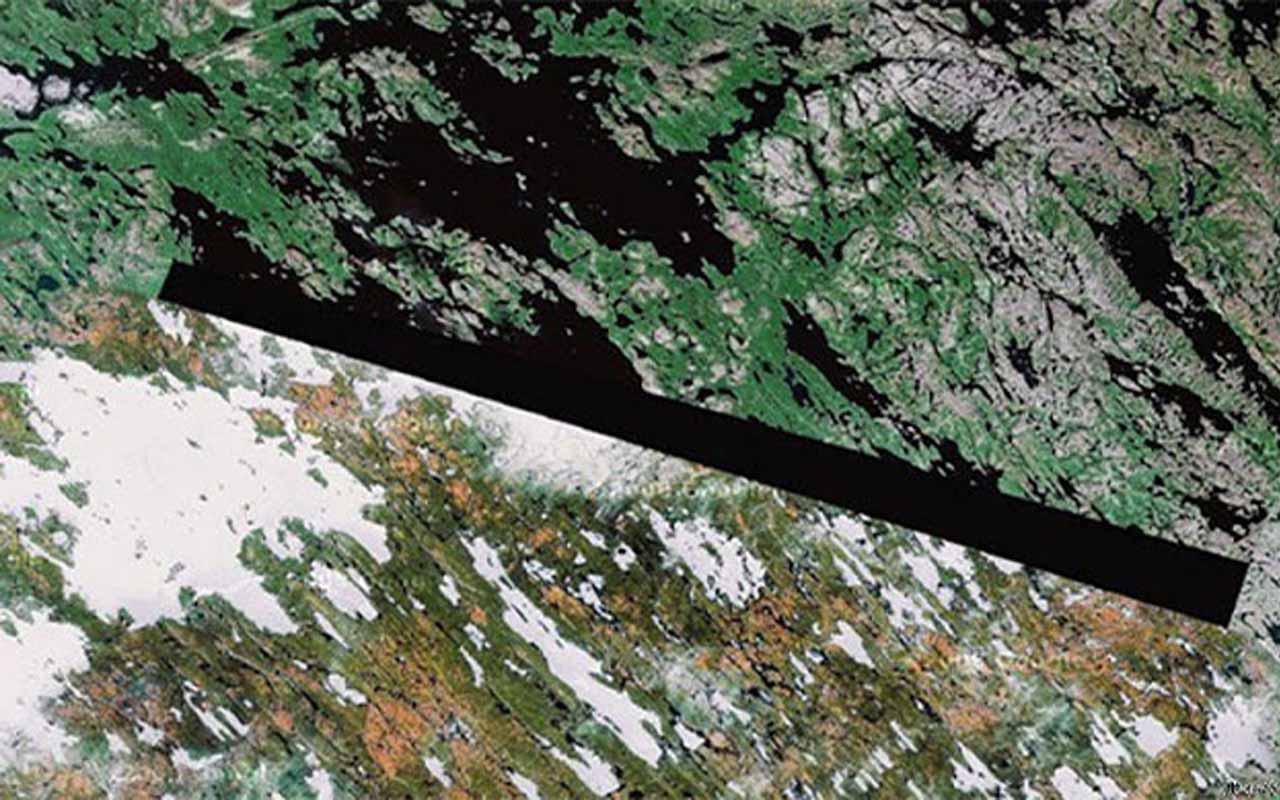 Baker Lake, Nunavut, google Earth