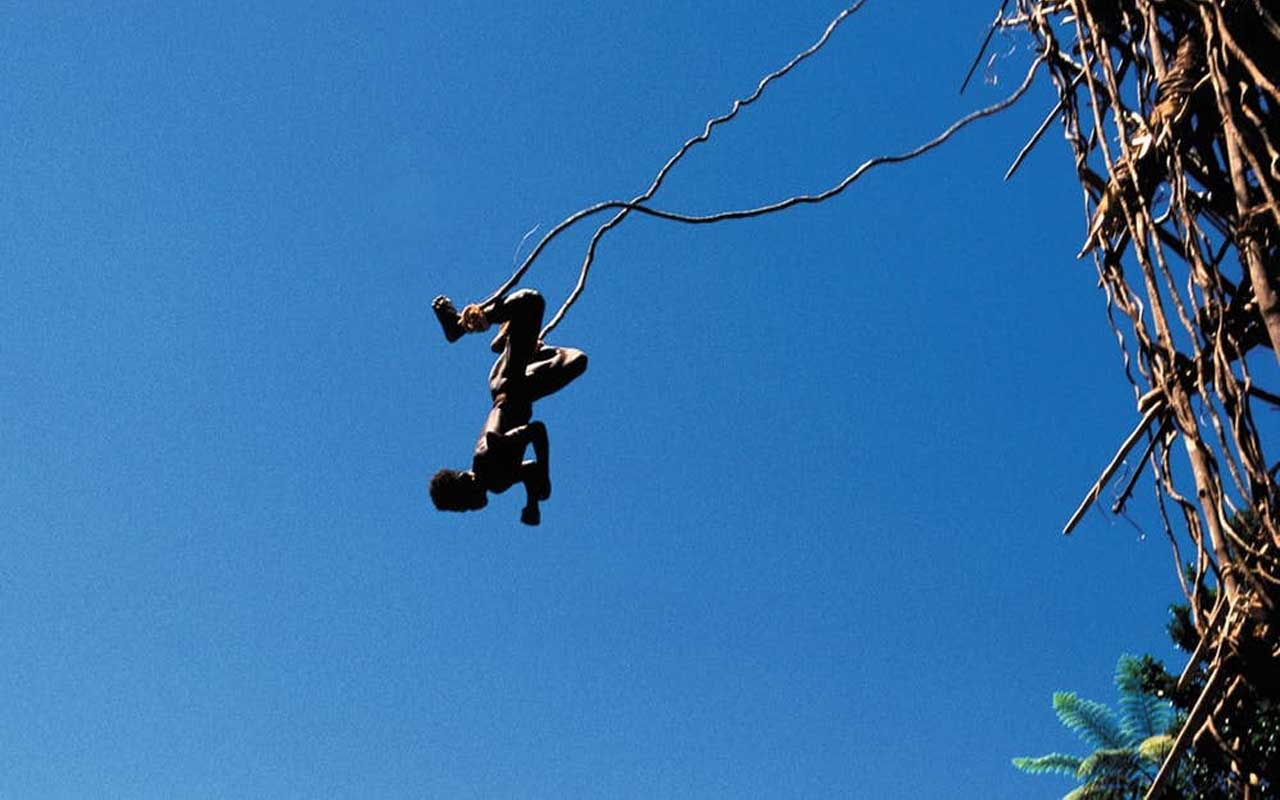 Vanuatu men: Bungee jumping or land diving