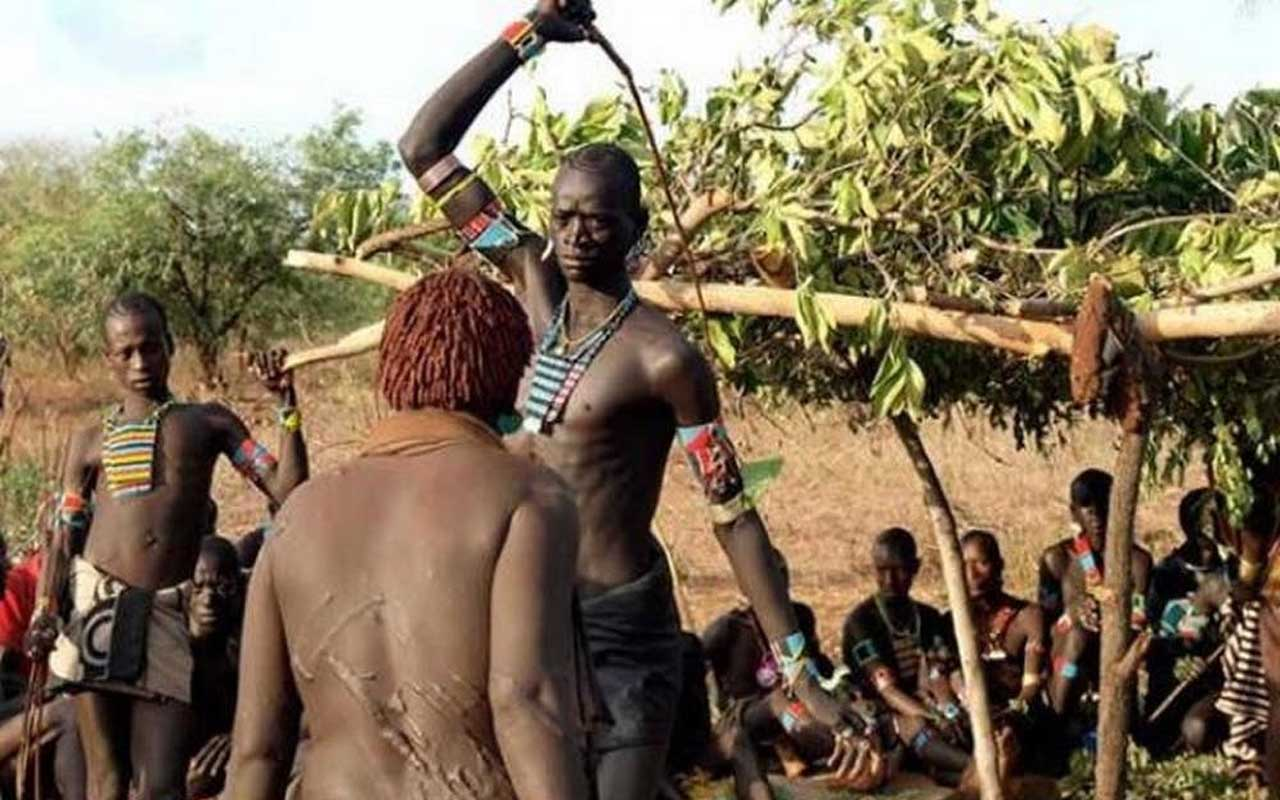 Fula people, tribe, whipping