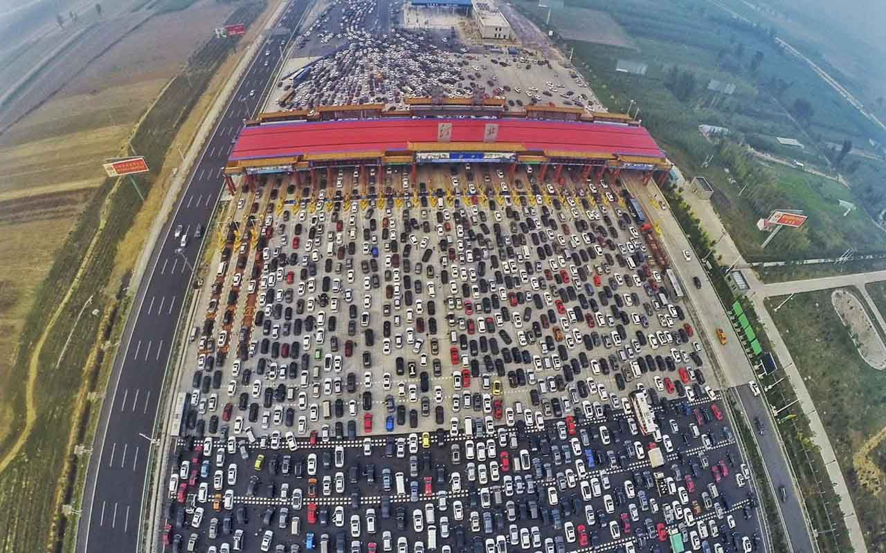 Beijing, China, Commuters, traffic, road rage