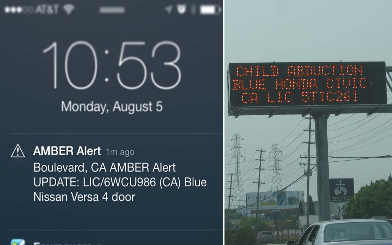 Amber alert, mobile phone, alert preference, child, missing