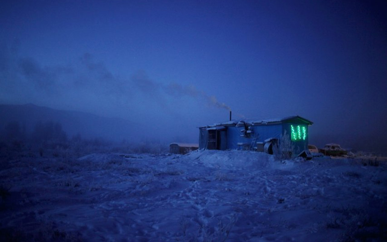 "In a tiny, isolated guesthouse known as ""Cafe Cuba,"" located in the frozen wasteland along the road is where Chapple was stuck for two days. He survived on reindeer soup and hot tea while waiting for another car to pick him up and finish the journey."