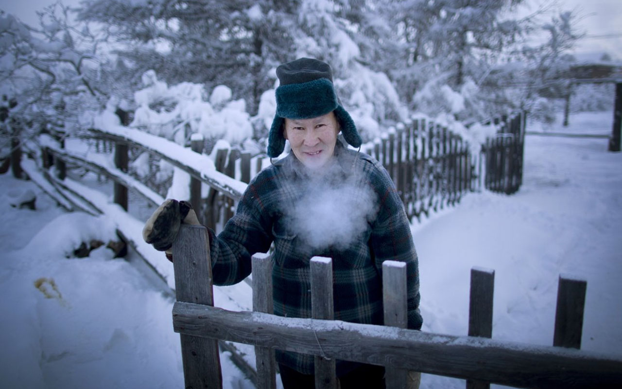 """The residents of the town identify strongly with their surroundings and history as ethnic Yakutians. Chapple said that """"life rolls on much like anywhere else, but with an eye constantly on the thermometer. Below -58 degrees Fahrenheit and things start to shut down."""""""