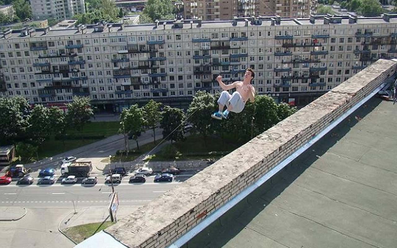 Parkour, accident, death