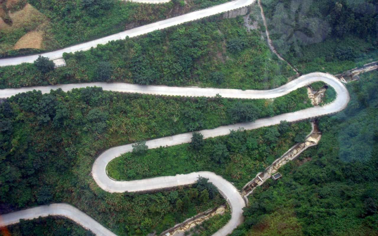 Tianmen Mountain Road, China