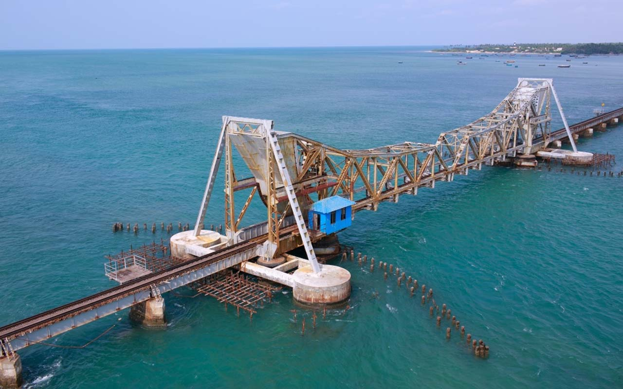 Pamban Railway Bridge, India