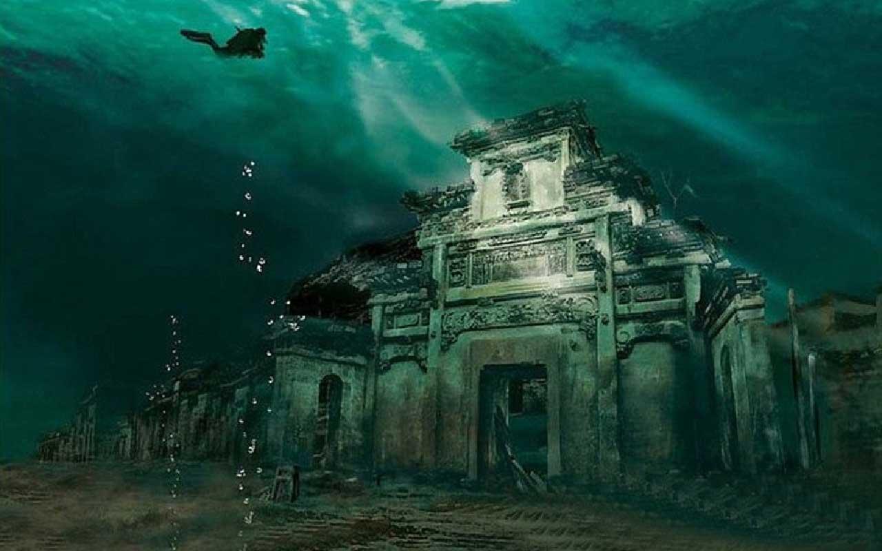 China, Atlantis, flooded