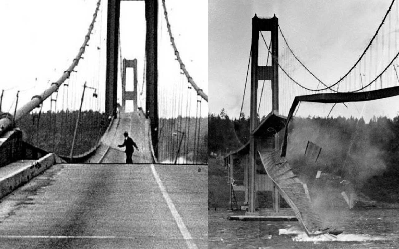 Tacoma Washington Bridge Disaster, engineering mistake, mind blowing facts