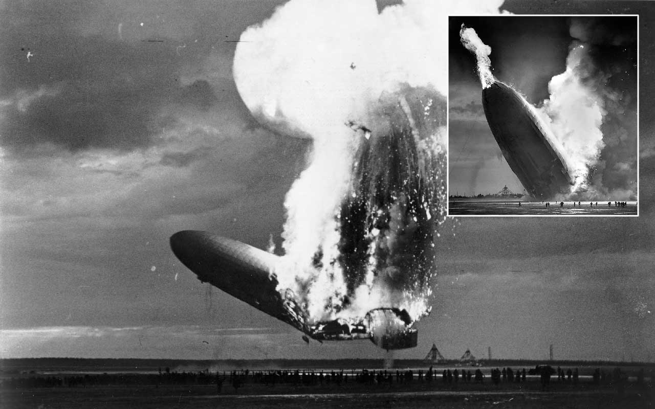 Hindenburg airship disaster, flying, wright brothers, airspace, fire, explosion