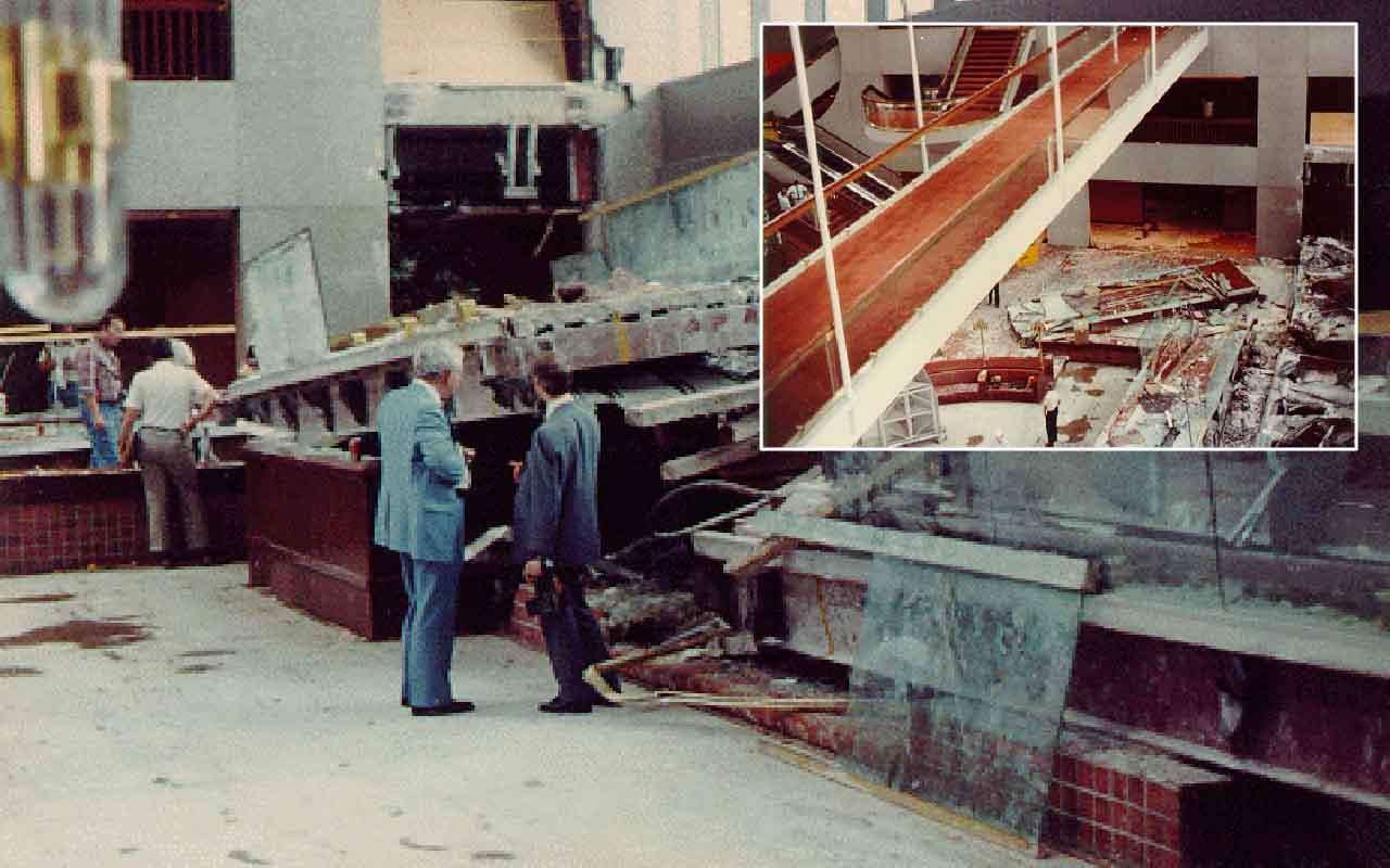 Hyatt Regency Hotel Walkway Collapse, Missouri, hotel, people,