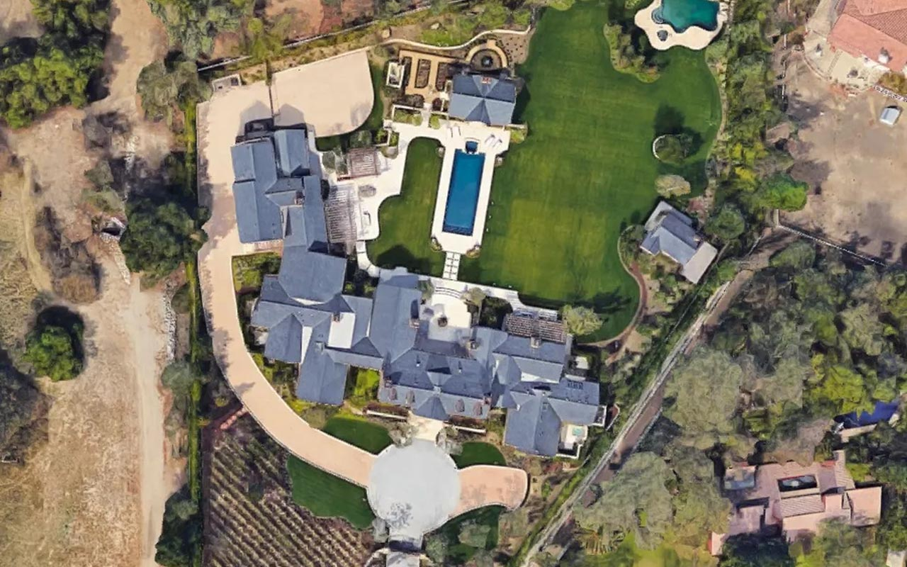 The Kardashians house, lakeside, millionaires