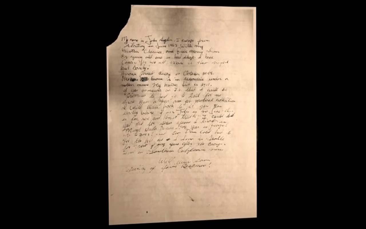FBI investigation on letter, prisoner escapes Alcatraz,