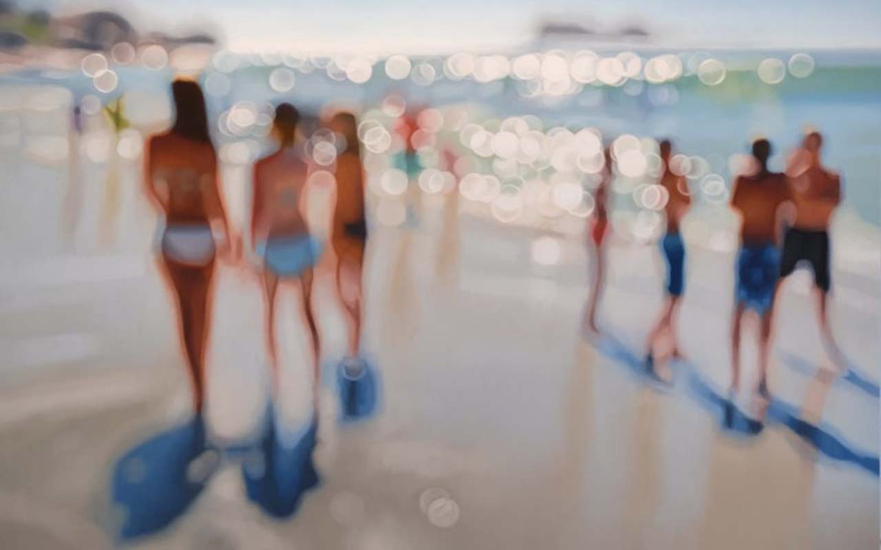Philip Barlow, women, men, beach, ocean, fun, frisbee, playing, happy, romance