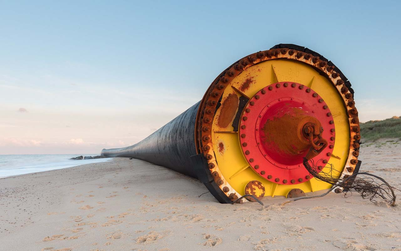 Giant pipes, washed ashore, beach, beaches, ocean, fact, facts