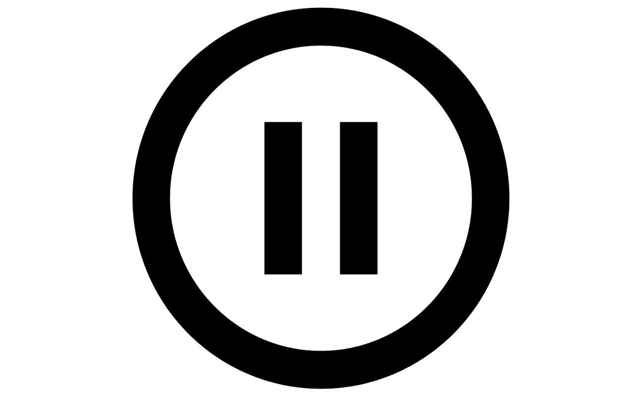 Pause symbol, music, mellow, jazz, rock, band, artists, symphony