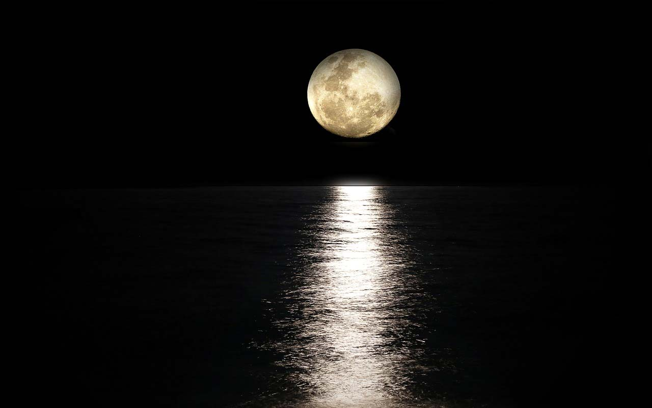 The Ponzo Illusion makes the Moon appear a lot larger than it actually is.