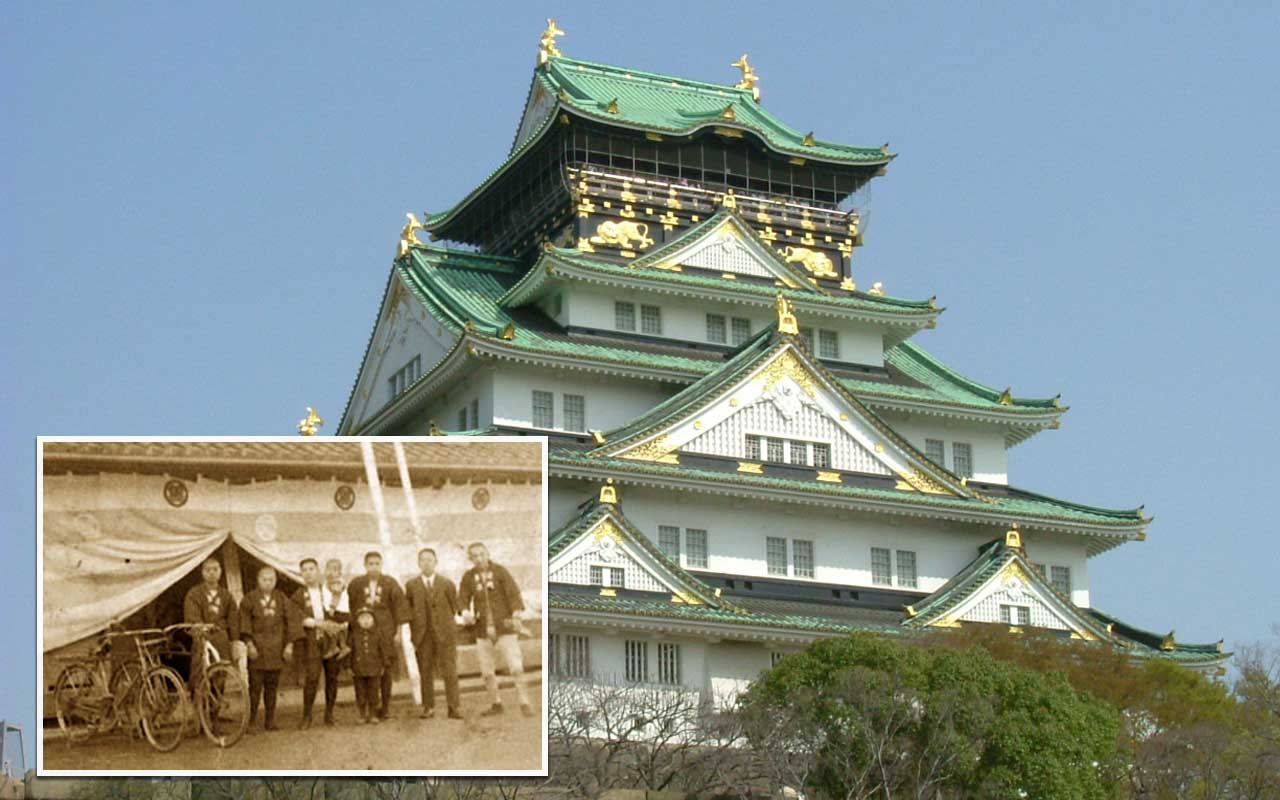 Osaka, castle, Japan, people