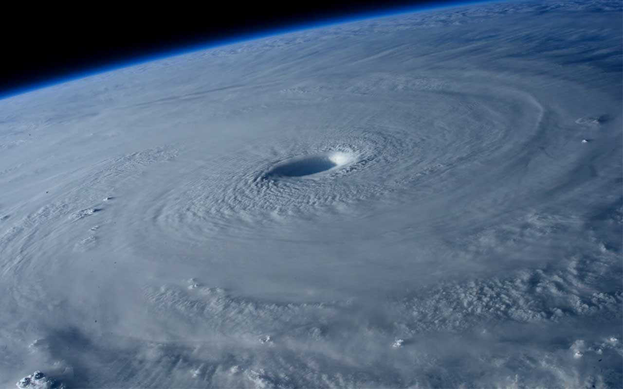 Giant hurricane as seen from space, nature, natural, phenomenon, life, Earth