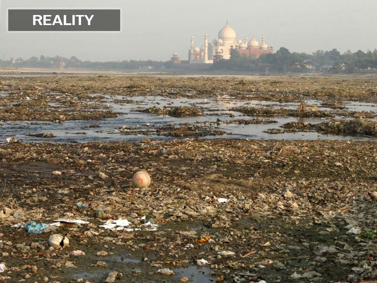 Taj Mahal, trash, dump, landfill