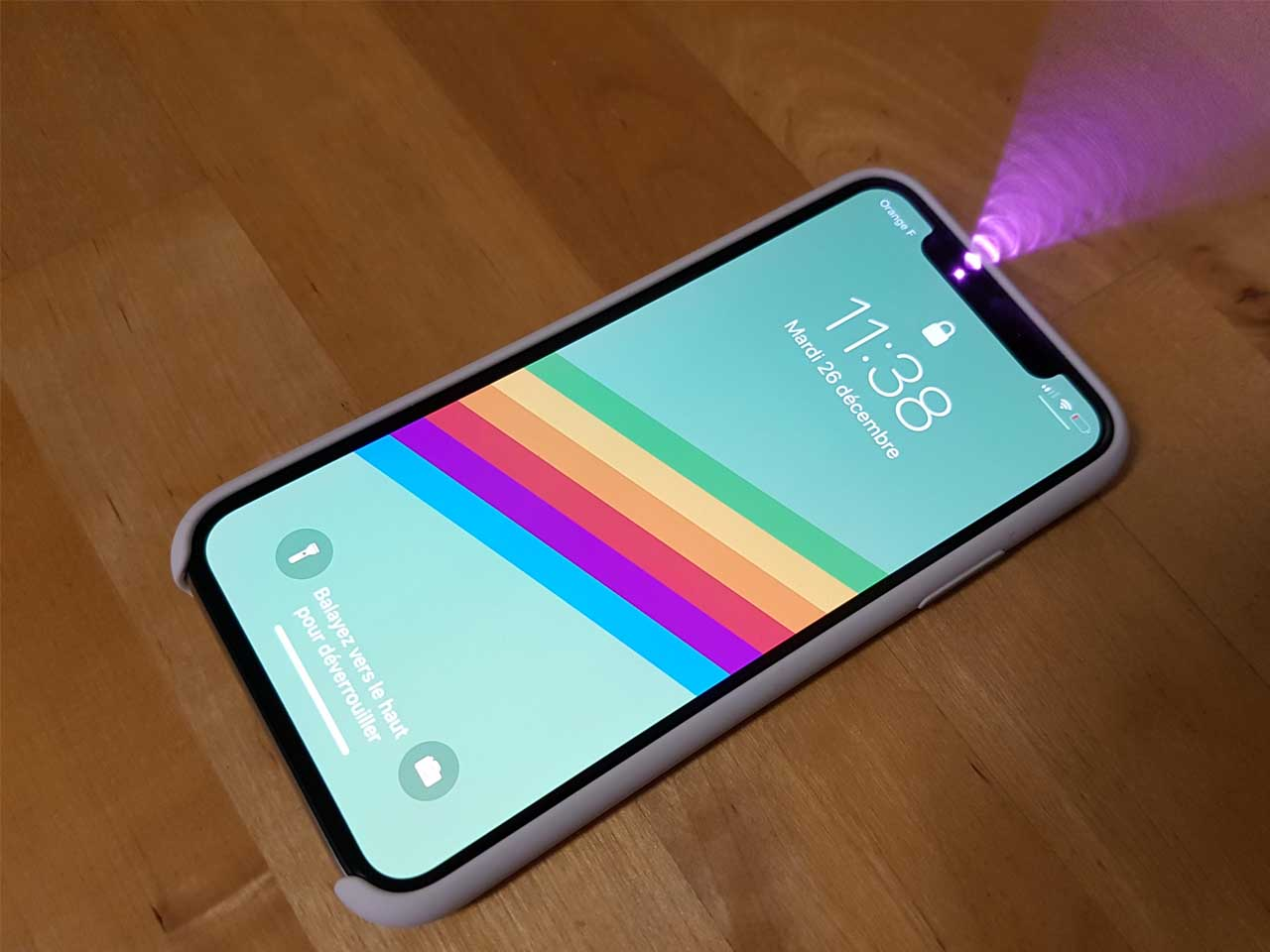 Face ID is visible when you take a picture of the iPhone X