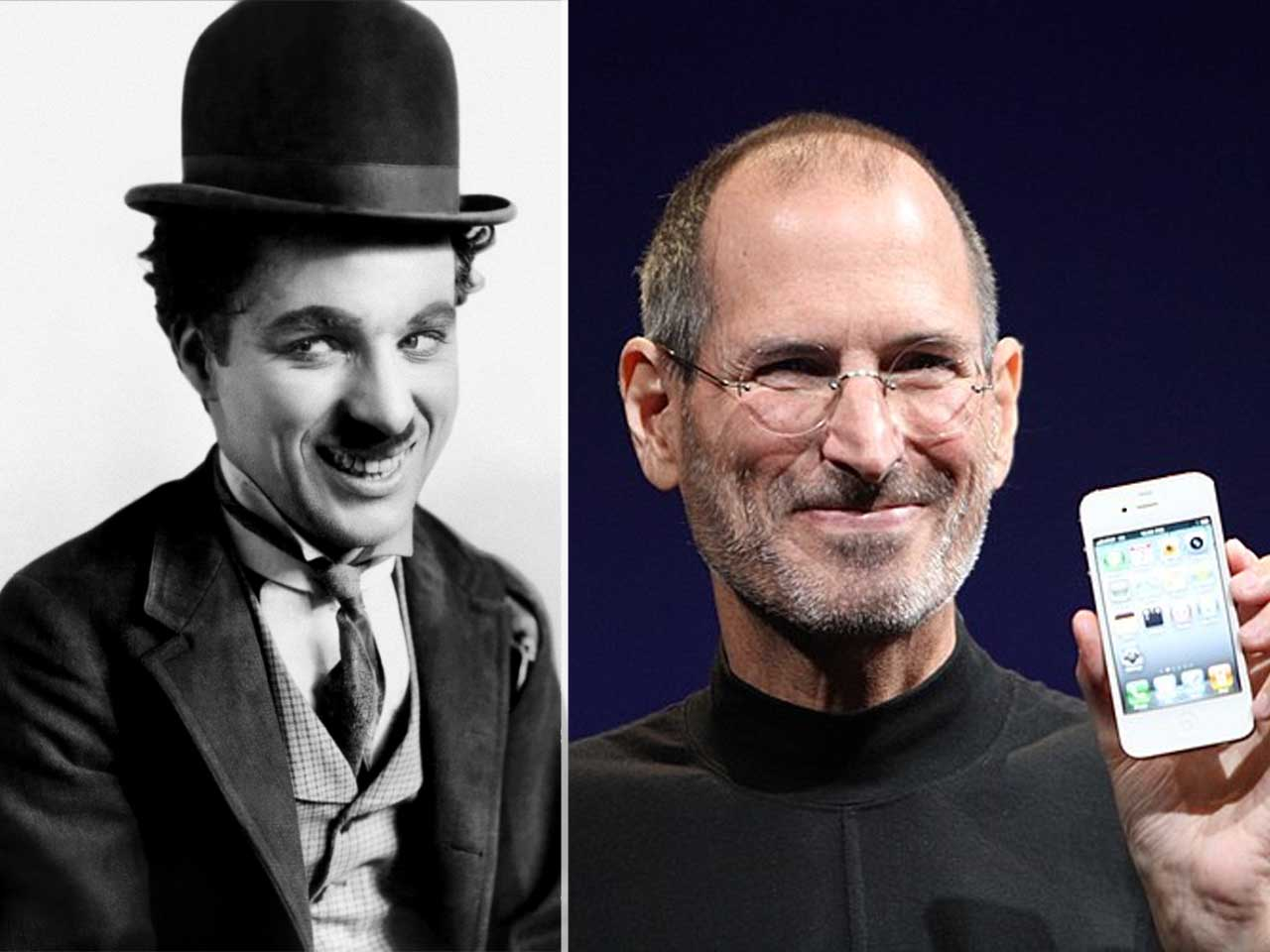Charlie Chaplin died in 1977, the same year Apple was incorporated.