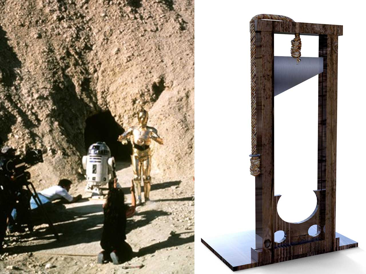 Star Wars was released on May 25, 1977,the same year as the last guillotine execution in France, Star Wars Movie, France,